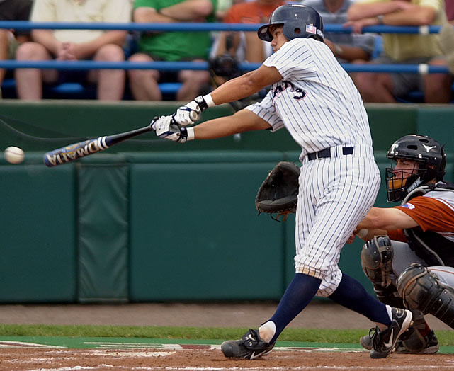 Kurt Suzuki had only one hit for Cal State Fullerton in Game 2 of the 2004 CWS and it came in the bottom of the seventh with the game tied at 2-2. The third Texas error of the game allowed Suzuki to get to the plate, where he singled to left field and scored Ronnie Prettyman for the series-winning run.