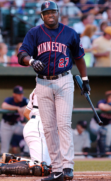 In 2002, his final season with the Twins, David Ortiz hit .272 with 20 home runs and 75 RBIs. The next year he hit .288 with 31 home runs and 101 RBIs for the Red Sox.