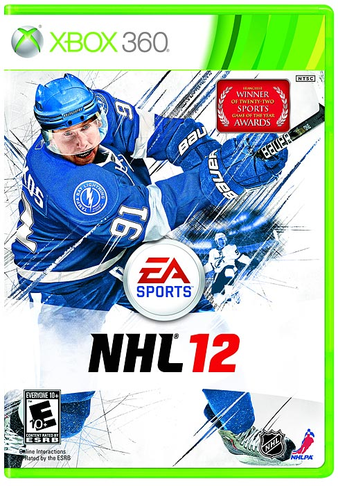 Tampa Bay Lightning center Steven Stamkos is the latest star to grace the cover of EA's NHL franchise game. The prolific 21-year-old netted 45 goals to finish second in the league in scoring, and finished fifth with 91 points.   NHL 12 is scheduled for a September 13 release on the Xbox 360 and PS3.
