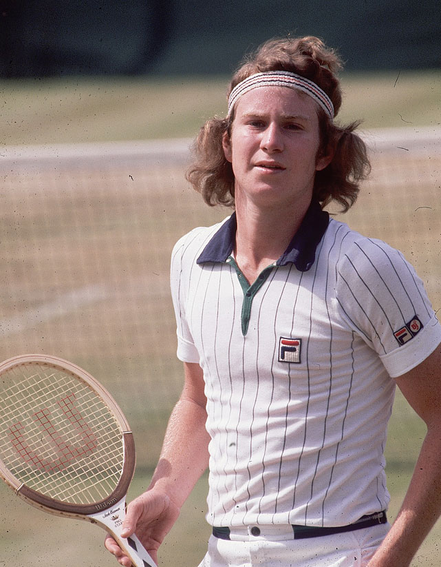 McEnroe at Wimbledon in 1984.