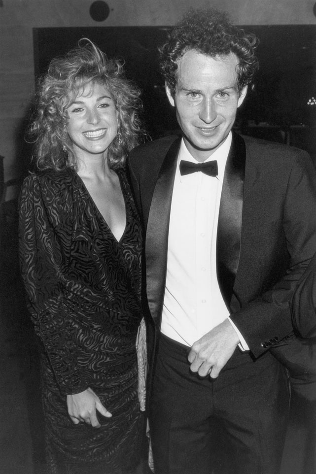 McEnroe with his wife Tatum O'Neal in 1985.