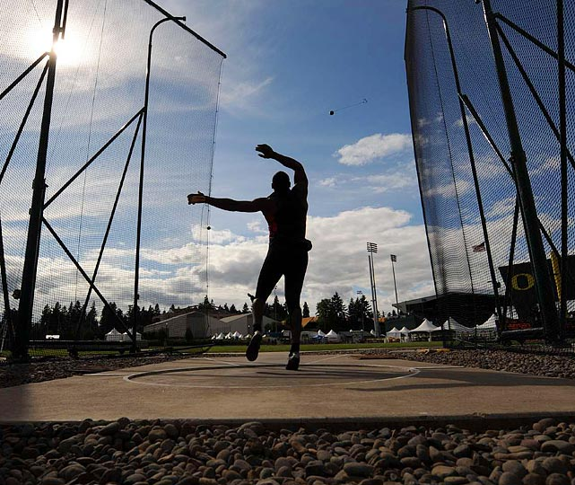 U.S. hammer throwers prepared for the London Games during the 2011 USA Outdoor Track and Field Championship.