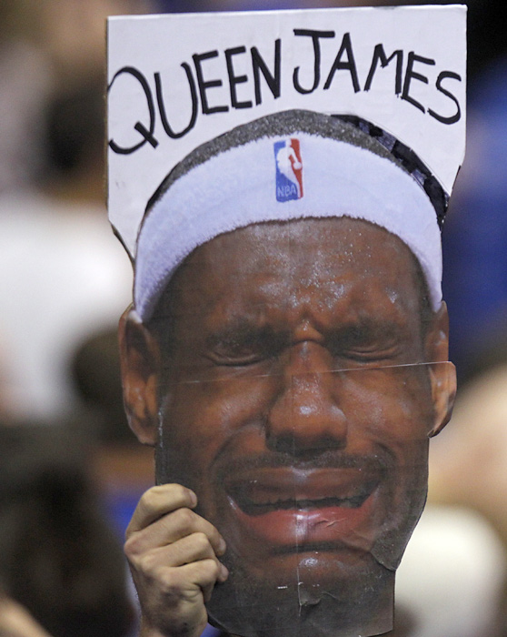 Since announcing his intention to take his talents to South Beach and play for the Miami Heat last July, LeBron James has turned into one of the most hated athletes in sports. Here are some photos of fans expressing their displeasure with King James.