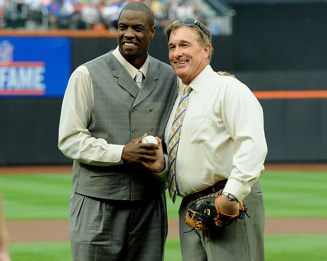 "The former Mets ace and Carter pose for a picture on the pitching mound. After learning of Carter's diagnosis, Gooden tweeted,  ""To my teammate Gary Carter... I am there for you Kid ...the guys u win championships with..remain ur teammates for life never exmates... Doc."""