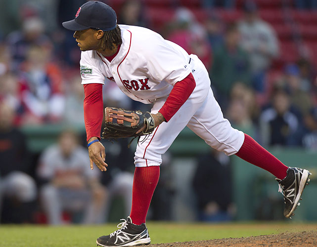 After running out of pitchers, Boston turned to outfielder Darnell McDonald to pitch the 17th inning against Baltimore. He gave up a game-winning three-run homer to Adam Jones. Orioles first baseman Chris Davis pitched two scoreless innings for the win. The last time two teams brought in position players to pitch in the same game was Oct. 4, 1925, when Hall of Famers Ty Cobb of Detroit and George Sisler of the St. Louis Browns closed out the second game of a doubleheader on the last day of the season.