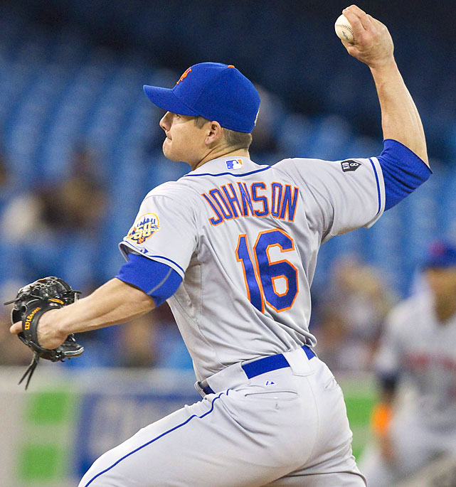 Trailing by nine runs to the Blue Jays, the Mets gave their weary bullpen a break by turning to catcher Rob Johnson to pitch the eighth inning. Johnson produced New York's only three-up, three down inning of the night, striking out Eric Thames to end it. The rest of the Mets' staff allowed five homers for a total of 14 runs.