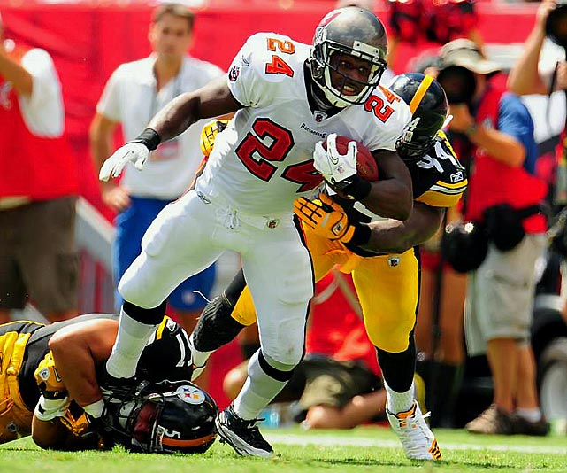 The 2005 offensive rookie of the year hasn't been the same since a knee injury that same season. Williams was demoted near the end of 2010 as LeGarrette Blount took over starting duties with the Bucs.