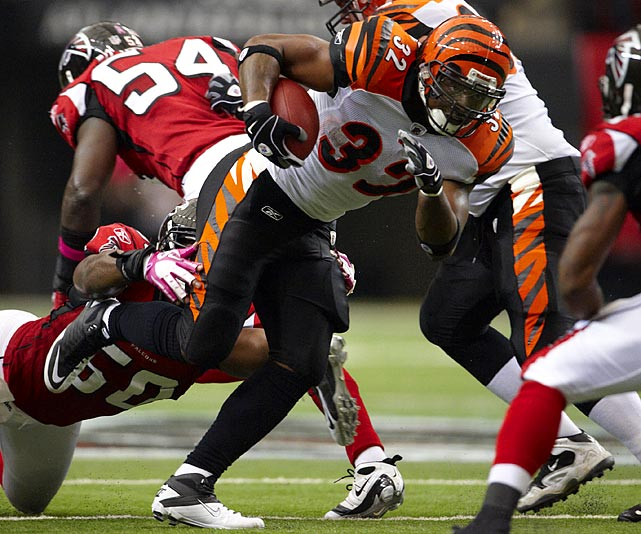 The Bengals back has rushed for more than 1,100 yards in each of the past two seasons, but seven of his career 14 fumbles came in 2010.