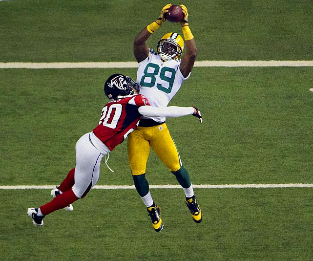 The Green Bay Packer has big-game experience and had a great year in 2010 with 679 receiving yards and five touchdowns.