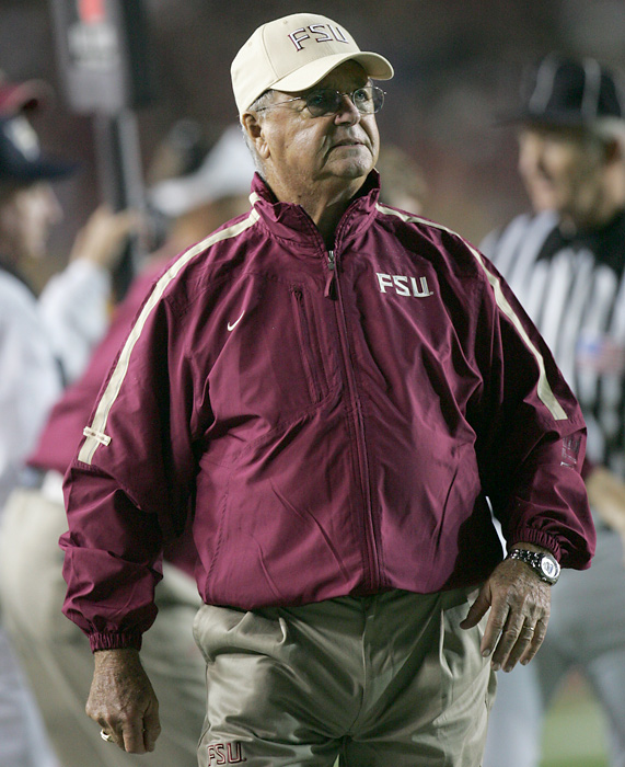 The former Florida State coach was pushed into retirement in 2009 at the age of 80. The rocky finish doesn't take away from Bowden's storied career. He finished with a record of 377-129-4, with two national championships. His second title came in 1999, when he was 70.