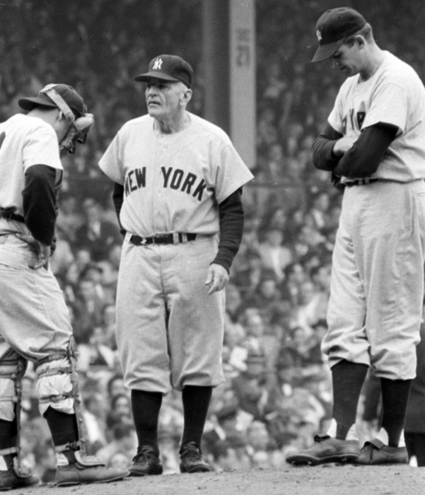 Stengel had a solid 13-year playing career but is better known as one of the greatest managers in MLB history. Stengel had moderate success managing the Brooklyn Dodgers and Boston Braves. At 59, he was hired as manager of the Yankees where he would win seven world championships in 11 years. The crusty, quotable manager then jumped ship to the cross-town Mets at the ripe age of 72. Stengel would manage for four years in Queens before retiring because of a broken hip.