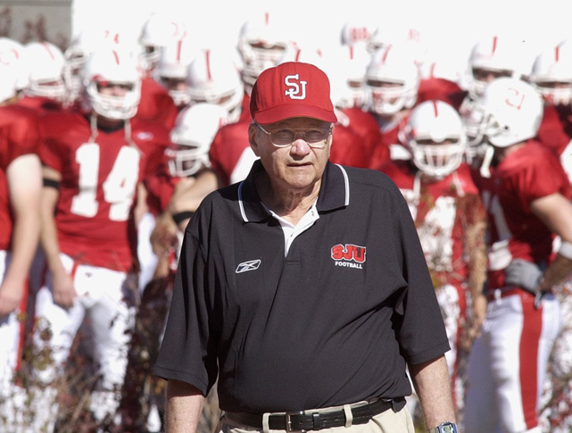 One month older than Joe Paterno, the 84-year old Gagliardi is the oldest coach in sports today. Leading the Division III Saint John's University Blazers (Minnesota), Gagliardi has racked up 454 wins, (478 total when counting his previous job) making him the winningest coach in the history of college football. Gagliardi and Paterno are two of the three active coaches who've been inducted into the College Football Hall of Fame.