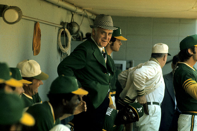 "Whether it was through proposing that baseball use orange baseballs or through clashing with players on his team, Oakland A's owner Charlie Finley was certainly a character. After the relationship between Finley and some of the A's players soured, Finley gave the 1973 World Series champions rings that did not have any diamonds in them, a display of frugality that did not go over well with the players. ""Screw `em,"" Finley said. ""The next time we win, I won't give them anything."" The A's won the title again the next year and the 1974 ring featured a diamond."