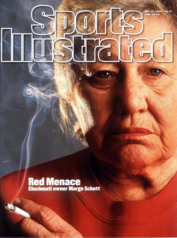 Marge Schott, who owned the Cincinnati Reds from 1984-99, tended to make headlines for all of the wrong reasons. During her tenure she uttered numerous racist and homophobic remarks, comments which caused her to be banned from day-to-day operations of the Reds, including the entire 1993 season.