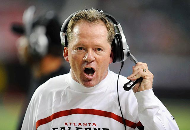 Everything went wrong for the Falcons in 2007. Star quarterback Michael Vick was sentenced to 23 months in prison for financing a dogfighting ring, and the team started 3-10. Head coach Bobby Petrino drew the ire of Atlanta fans when he quit after the 10th loss of the season and signed a five-year deal with the Arkansas Razorbacks.