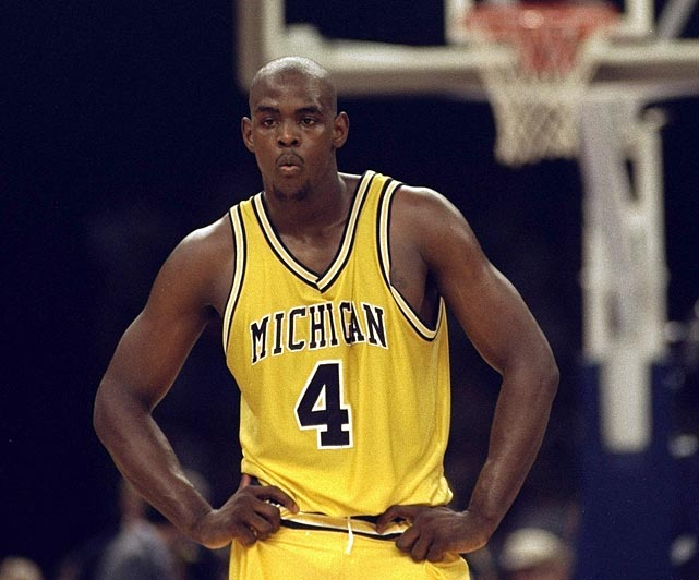 In his two years at Michigan, Chris Webber led the basketball program to great heights, but also to great lows. With Webber, the Wolverines made the NCAA championship game in 1992 and '93, but both seasons' accomplishments were vacated after a scandal involving Webber and others with booster Ed Martin. Webber was indicted for perjury in 2002 and is banned from associating with the program until 2013.