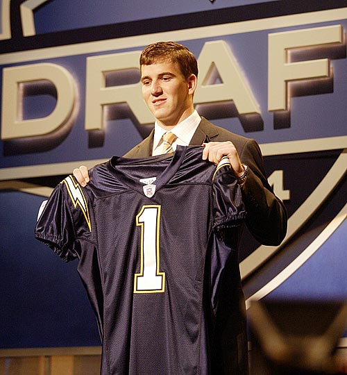 In the weeks leading up to the 2004 draft, quarterback Eli Manning said he would refuse to play for the San Diego Chargers if they drafted him with the first overall pick. The Chargers drafted him first, but only after they had a deal in place to trade him to the Giants for New York's fourth overall pick. While they may still hate Manning, Chargers fans can take solace in the fact that they received Philip Rivers (and later drafted Shawne Merriman and Nate Kaeding) in exchange for Manning.