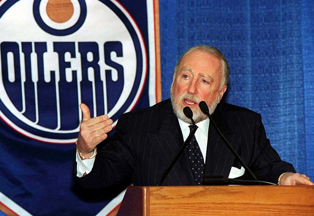 In one of the biggest trades in sports history, Oilers owner Peter Pocklington stunned Edmonton fans in 1988 when he announced he had traded national hero Wayne Gretzky to the Los Angeles Kings. Pocklington was burned in effigy and is still blamed by many fans for the move, even though he has claimed that it was vital for the financial well-being of the franchise.