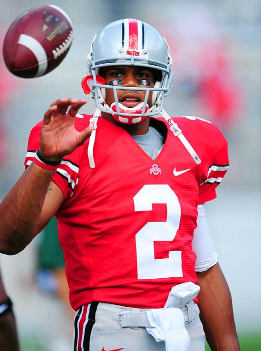 After he received a five-game suspension at the end of the 2010 season for receiving improper benefits, Ohio State quarterback Terrelle Pryor pledged he would return for the second half of his senior season.  Given the unflattering attention he -- and his cars -- brought to the university, many Buckeyes fans weren't sad to see him renege on his promise in June 2011 and announce he would leave Columbus for the NFL. In late July, the school banned him from any contact with the athletic program for the next five years.