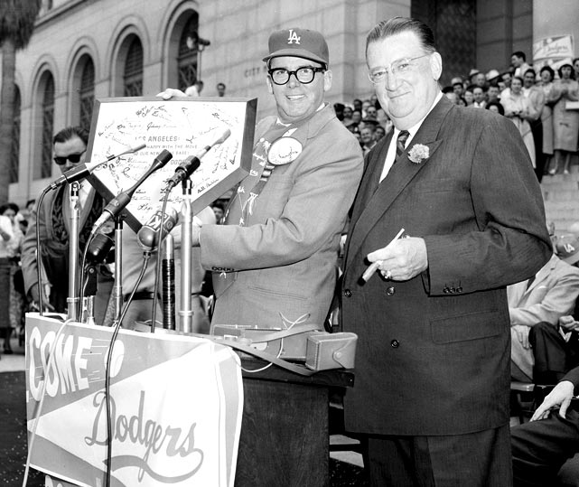 "In Los Angeles, Walter O'Malley was idolized as the Dodgers' owner -- the first man to bring Major League baseball to the west coast. Decades since the 1957 move from New York, Brooklynites still mourn the loss of ""Dem Bums,"" the adored group of players that played at Ebbets Field."