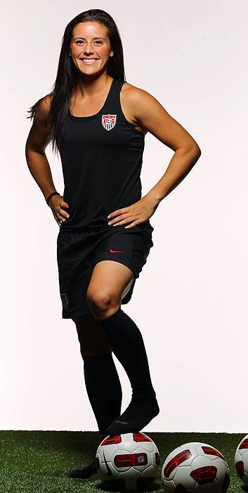 The two-time Penn State All-America has played most of her club soccer in Germany, winning the 2011 German Cup with Frankfurt. After debuting for the U.S. in '08, Krieger was not called up in '09, but coach Pia Sundhage says she has become more aggressive and technically sound over the last year.