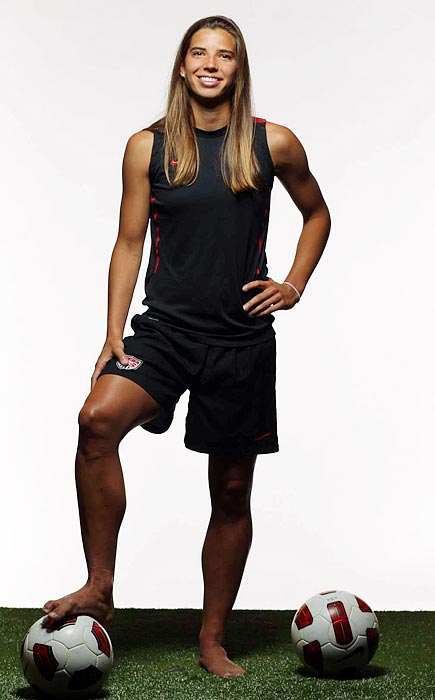 The youngest member of the 2008 Olympic team, Heath missed last year while recovering from an illness that doctors never diagnosed and from a broken right ankle. A three-time NCAA champ at North Carolina, she can play right or left back.