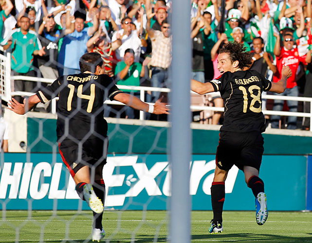 "Javier ""Chicharito"" Hernandez leads the Gold Cup with seven goals, but it was Jose Andres Guardado who tied the game at 2-2 in the 36th minute."