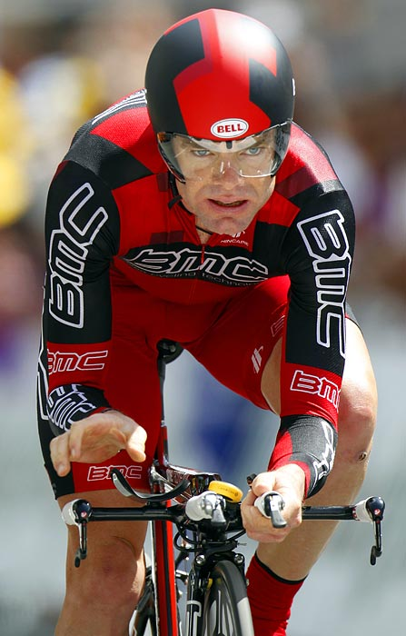 "After placing second at the Criterium du Dauphine, Cadel Evans, who will lead BMC Racing, isn't settling for anything other than the top spot. Says Evans, ""I'm not going to ride for second place."""