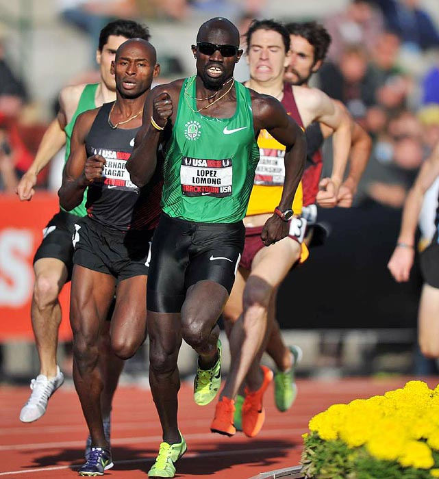 Lopez Lomong, the 2009 and 2010 USA outdoor 1,500-meter defending champion, finished third in the third heat of the 1,500-meter semifinal. Lomong was seventh in the final and will not be going to the world championships.