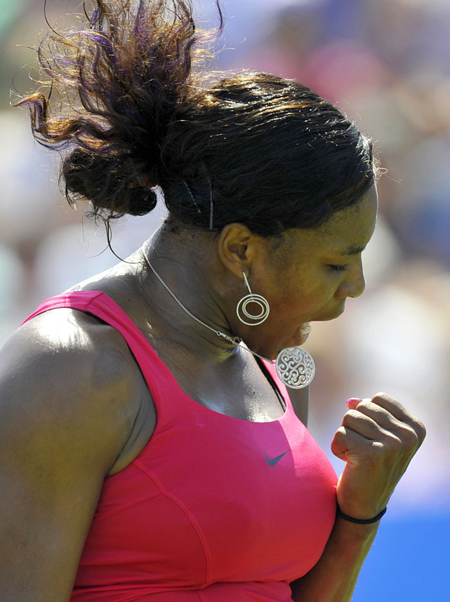 Serena fell behind 0-5 in the opening set against Pironkova, but ended up winning in just over two hours.