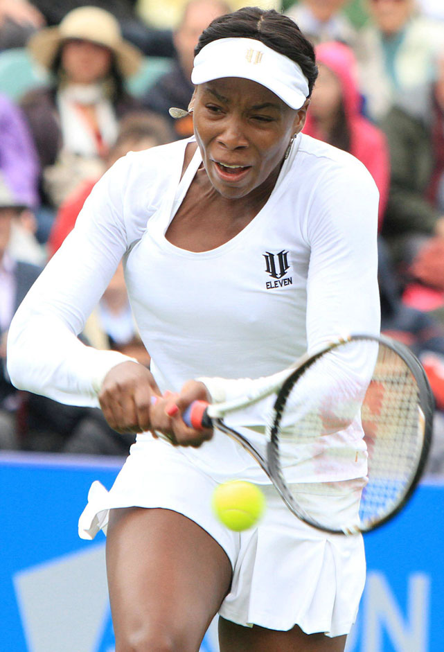 Venus squandered three match points in the final game before locking down the victory.