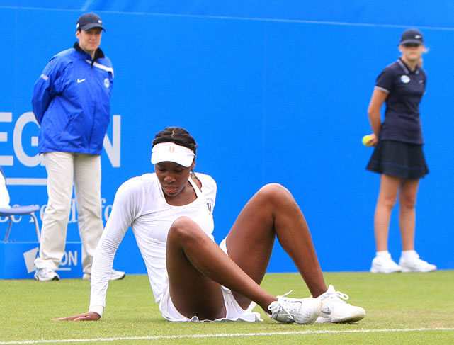 Venus was clearly rusty in her victory over Petkovic, beginning with two double-faults and a string of unforced errors.