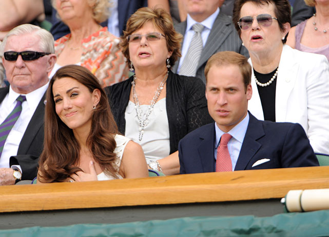 The royal couple are known to be longtime tennis fans.