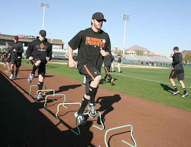 Wilson works out during spring training in 2007. At that time, Wilson was returning after he had a 5.40 ERA during his rookie campaign. He went on to post a 2.28 ERA in 2007.