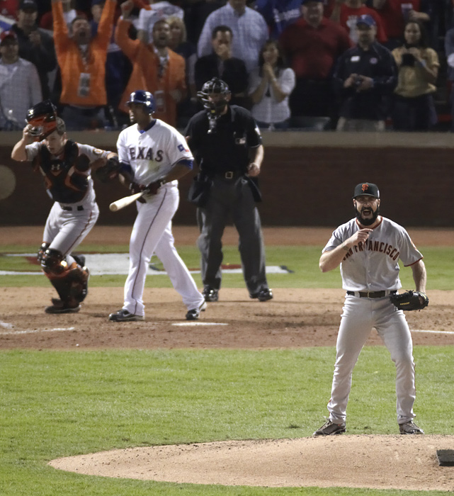 Wilson's strikeout of Nelson Cruz in Game 5 against the Rangers gave the Giants their first World Series title since 1954.