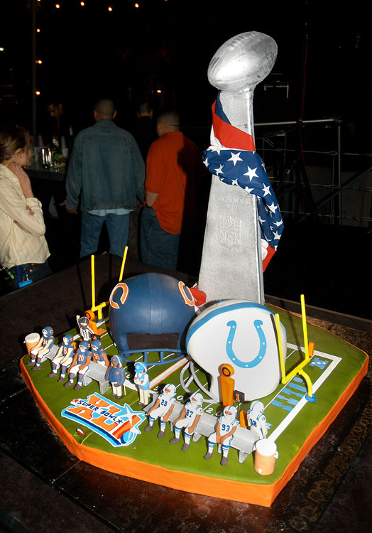 Famed chef Duff Goldman, of Food Network's Ace of Cakes , created the official NFL Super Bowl XLI cake.