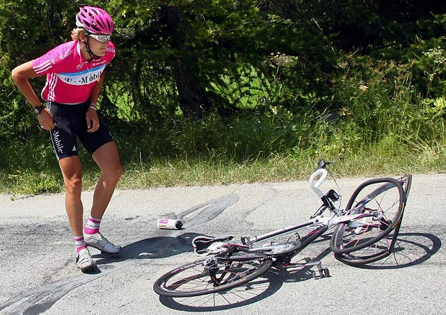 German Marcus Burghardt flipped over his handlebars in Stage 9 of the 2007 Tour when he struck a slow-moving Labrador on the course. The dog got up quickly and appeared unharmed while Burghardt took a bit more time to collect himself.
