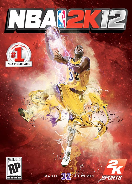 ...the third cover featuring the Lakers' Magic Johnson.