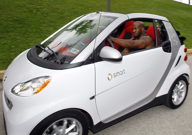 "The Black and Gold linebacker went green when he drove a ""Smart for Two"" subcompact car to training camp in 2009."