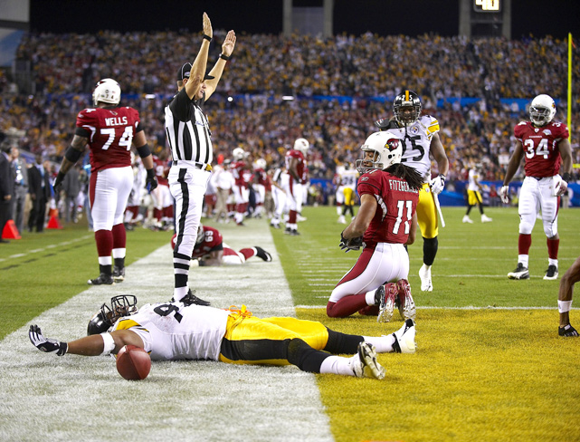 He put his name in the annals of Super Bowl lore when he returned a Kurt Warner interception 100 yards for a touchdown at the close of the first half in Super Bowl XLIII. As Steelers surrounded Harrison, he stayed on the ground to collect his breath from the run.