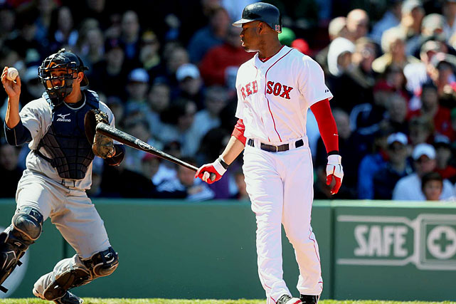 2010 Stats with Tampa Bay Rays (154 G, 600 AB):  110 R, 19 HR, 90 RBI, .307 AVG, .356 OBP, 47 SB   Crawford endured an abysmal start to his Red Sox career, batting .155 in April. Since then, his average has improved somewhat, but what is perhaps most striking is his lack of stolen bases. Crawford, who has stolen at least 46 bases in seven of his last eight seasons, has swiped just eight bags through the All-Star break.  Crawford went on the DL on June 18 with a strained hamstring and a .275 OBP.