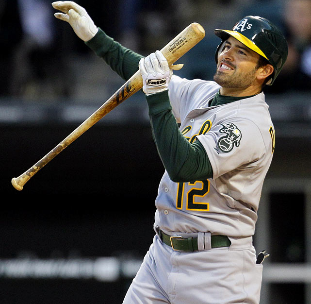 2010 Stats with Kansas City Royals (91 G, 352 AB):  46 R, 5 HR, 37 RBI, .318 AVG, .384 OBP   A career .289 hitter in eight years with the Royals, DeJesus' 8-for-54 June with the A's has helped bring his average down to .220 for the season through the All-Star break.