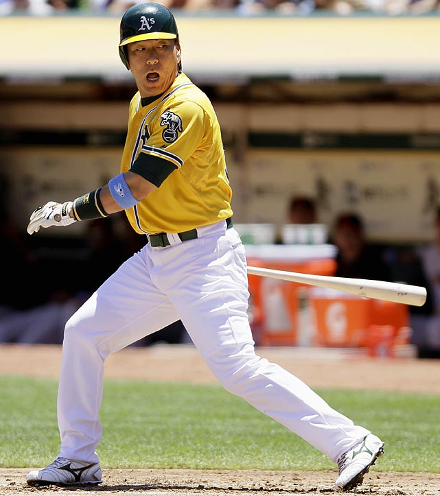 2010 Stats with Los Angeles Angels (145 G, 482 AB):  55 R, 21 HR, 84 RBI, .274 AVG, .361 OBP   Matsui adapted well to life away from New York in 2010, as he joined the Angels and put up comparable numbers to his previous seasons. Now with the A's, the Japanese slugger has had a tough 2011 with just a .209 average and .327 slugging percentage (.459 in 2010) through the All-Star break.