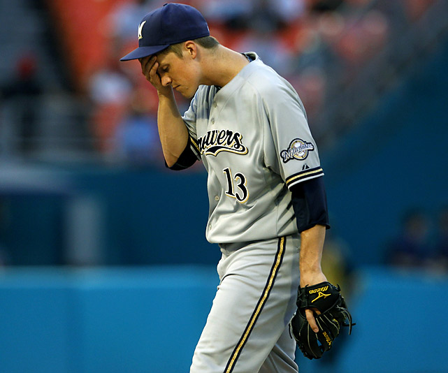 2010 Stats with Kansas City Royals (33 GS, 220 IP):  10-14, 181 K, 4.17 ERA, 1.25 WHIP   Two years ago, Greinke was a Cy Young winner with the Royals.  The righthander came to the National League with a career 3.82 ERA, but began the season on the DL with a cracked rib and has a 5.45 ERA in 13 starts with the Brewers through the All-Star break.  However, he has managed 99 strikeouts in 74.1 innings.
