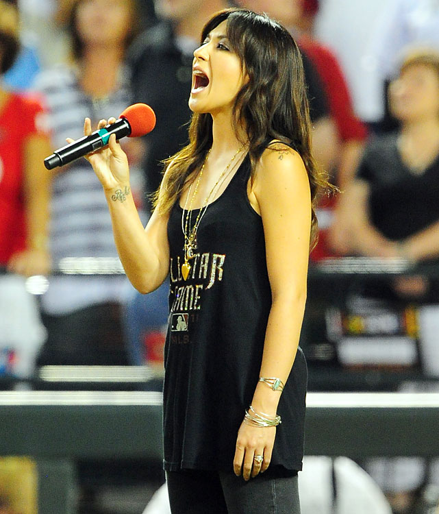 "Michelle Branch sang ""God Bless America"" during the seventh-inning stretch."
