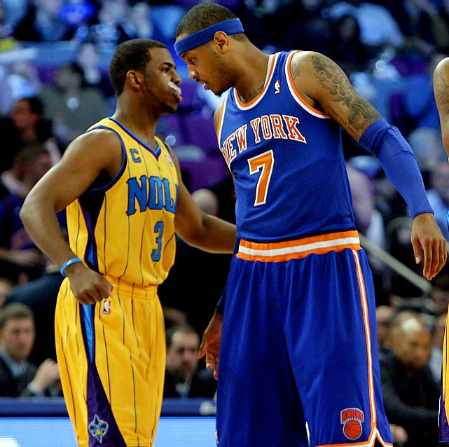 This game will surely be hyped in the New York tabloids, as it's the only time the Hornets' Chris Paul, a 2012 free agent, visits the Garden during the season. Regardless of salary constraints that may stop Paul from eventually playing in New York, Knick fans see him as their team's missing piece.