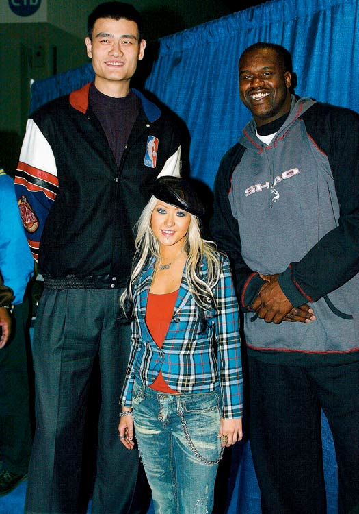 Yao Ming, Christina Aguilera and Shaquille O'Neal take part in the NBA All-Star Read to Achieve Celebration, a one of a kind concert and television special which took place at the World Congress Center in Atlanta.