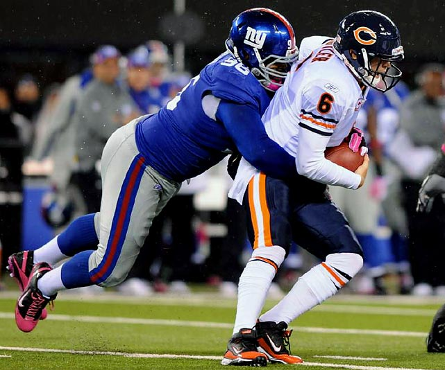 The New York Giants nose tackle has started in all but two games for the team since 2006. The 2010 season was his best yet, with 54 combined tackles and four sacks.