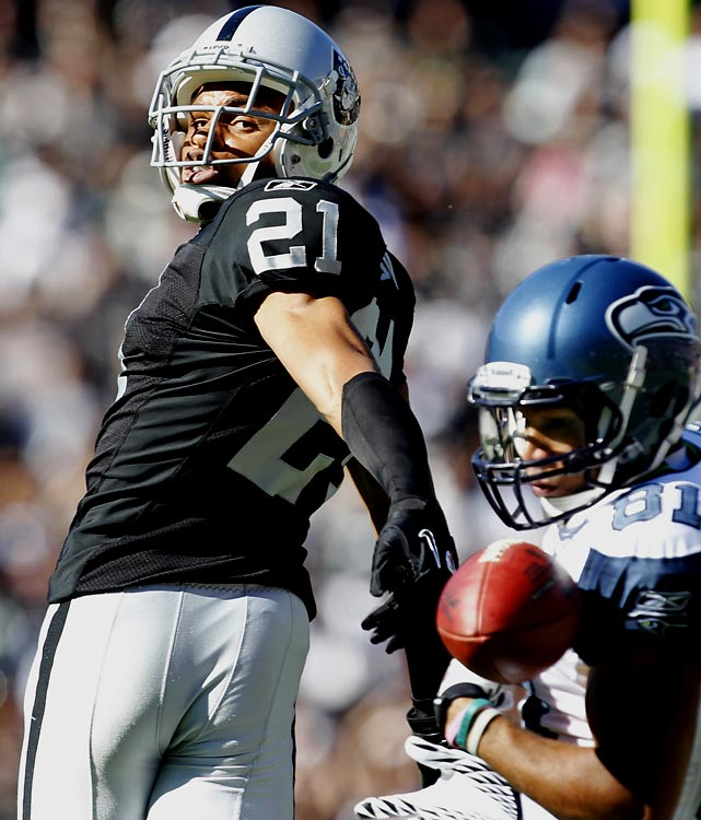 Without question the top defensive player on the board, Asomugha is known as one of the best corners in recent years and strikes fear in the hearts of opposing quarterbacks. The Raiders corner was thrown to just 27 times last season and did not give up a touchdown. He's had four All-Pro selections since 2006.