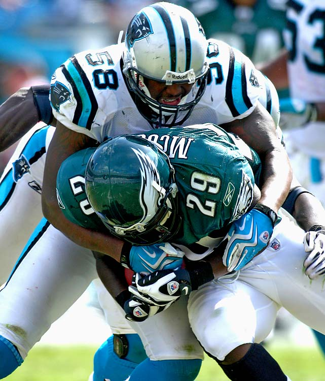 Davis enjoyed a great 2008 season with 113 tackles and 3.5 sacks, but that was his last full season in the league. The Panthers linebacker has been hampered by injuries, including an ACL tear in June 2010 that forced him to miss the entire season.